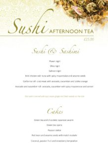 Sushi Afternoon Tea, London