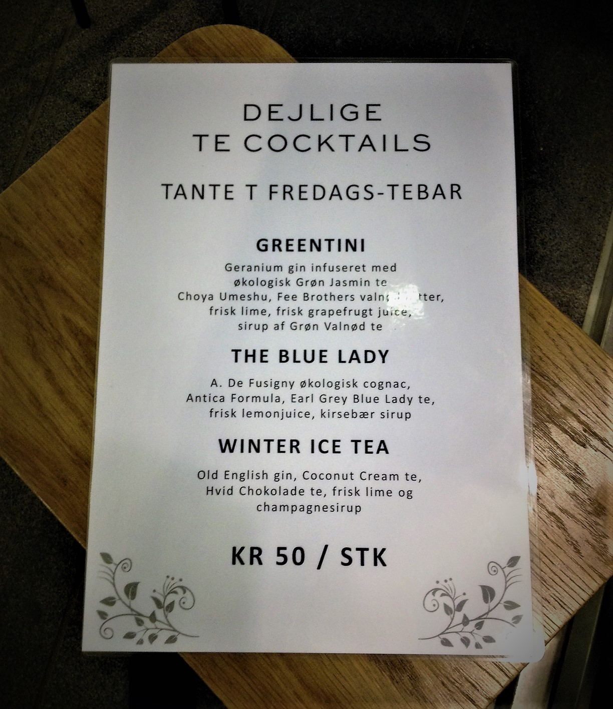Te cocktails Tante T